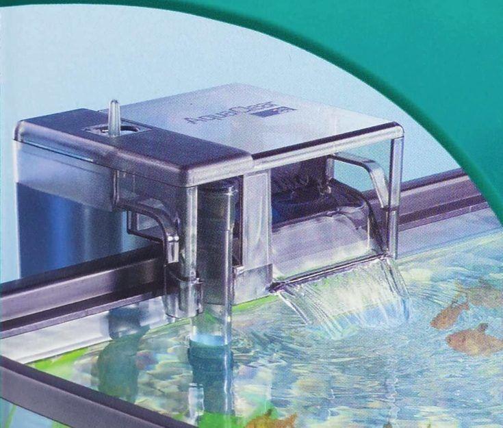 Primer plano de AquaClear - Filtro de pecera.